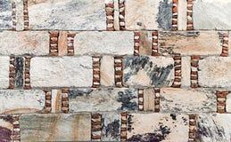 Dekorative Steinwand Stockfotografie