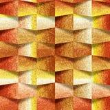 Dekorative Steinwand, Ziegelsteinfliesen des orange Gelbs, Innentapete, nahtloser Hintergrund stock abbildung