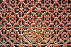 Dekorative Tür im Bologna, Italien Stockbild