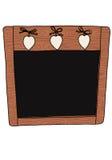 Dekorative Tafel Lizenzfreies Stockbild