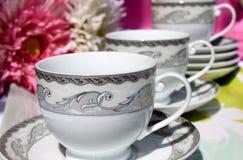 Dekorative Tee- und Kaffeetassen Lizenzfreies Stockfoto