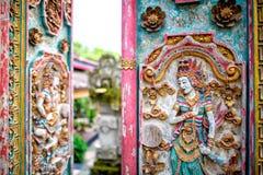 Dekorative Tempeltür in Bali 2 Lizenzfreies Stockbild