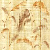 Dekorative tropische botanische Blätter - Innentapete - Papyrusbeschaffenheit stock abbildung