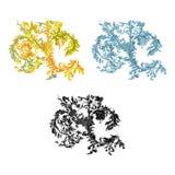 dekorative Vektorillustration der Weinlese 0rnament Lizenzfreies Stockbild