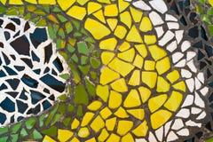 Dekorative Verzierung der Mosaikwand Stockbilder