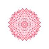 Dekorative Verzierung der roten Mandala rund lizenzfreie abbildung