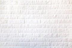 Dekorative weiße Backsteinmauer für Hintergrund stockfoto