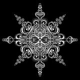 Dekorative weiße Schneeflocke Stockfotos