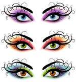 Dekorative weibliche Augen-Schablonen Lizenzfreies Stockbild