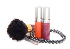 Dekorative weibliche Kosmetik Stockfotografie