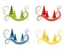 Dekorative Weihnachtsbaum-Hintergründe lizenzfreie abbildung