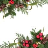 Dekorative Weihnachtsgrenze Stockbild