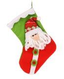 Dekorative Weihnachtssocke mit Sankt. Lizenzfreie Stockbilder