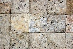 Dekorative Ziegelsteinbeschaffenheit des Travertins Stockbilder