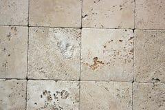 Dekorative Ziegelsteinbeschaffenheit des Travertins Lizenzfreies Stockbild