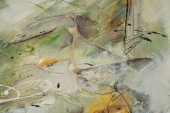 Dekorativer Ölgemäldehintergrund Stockbilder