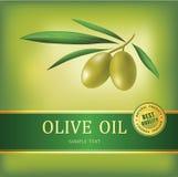 Dekorativer Ölzweig. Olivenöl des Vektors. vektor abbildung