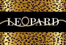 Dekorativer 'Leopard'Text stock abbildung