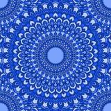 Dekorativer abstrakter nahtloser mit Blumenhintergrund der hellen spektralen blauen Handverbundzeichnung mit vielen Details für G lizenzfreie abbildung