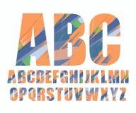 Dekorativer Alphabetvektorguß Stockfotos