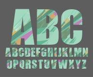 Dekorativer Alphabetvektorguß Stockfoto
