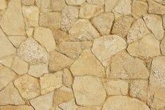 Dekorativer Bürgersteig gepflastert mit natürlichem Sandstein Lizenzfreie Stockfotos