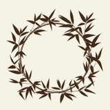 Dekorativer Bambusrahmen Lizenzfreies Stockbild