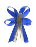 Dekorativer Bandbogen des Blaus und des Goldes Lizenzfreie Stockbilder