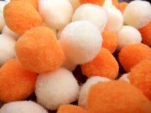 Dekorativer Baumwoll- und Polyester-Bälle Pom-pom Lizenzfreie Stockfotografie