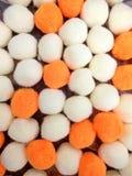 Dekorativer Baumwoll- und Polyester-Bälle Pom-pom Lizenzfreies Stockbild