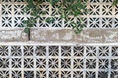 Dekorativer Betonblockwandhintergrund stockfoto