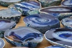 Dekorativer blauer Achat Lizenzfreie Stockfotos
