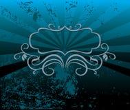 Dekorativer blauer Tonhintergrund vektor abbildung