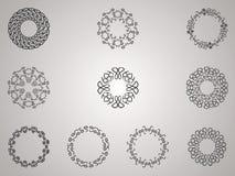 Dekorativer Blumen-Satz Stockbilder