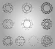 Dekorativer Blumen-Satz Stockbild