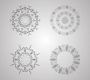 Dekorativer Blumen-Satz Lizenzfreie Stockbilder