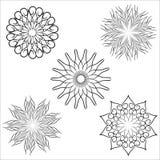 Dekorativer Blumen-Satz Lizenzfreie Stockfotografie