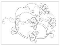 Dekorativer Blumenhintergrund stockbilder