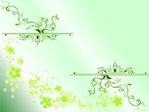 Dekorativer Blumenhintergrund Stock Abbildung