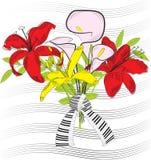 Dekorativer Blumenstrauß Lizenzfreies Stockbild