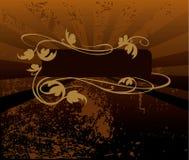 Dekorativer brauner Tonhintergrund lizenzfreie abbildung