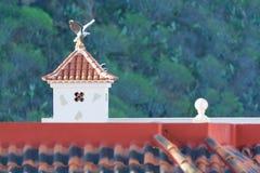 Dekorativer Dachkamin und Terrakottafliesendach auf Teneriffa, S Lizenzfreie Stockbilder