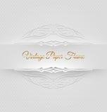 Dekorativer dekorativer Papierrahmen Stockbild