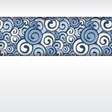 Dekorativer Elementrand Abstrakte Einladungskarte Stockfoto