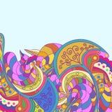 Dekorativer Elementrand Abstrakte Einladungskarte Schablonenwellendesign für Karte Stockfoto