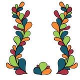 Dekorativer ethnischer mit Blumenhintergrund Paisleys des Vektors Muster mit Gekritzelgestaltungselementen Lizenzfreies Stockfoto