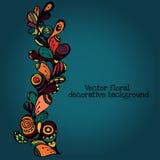 Dekorativer ethnischer mit Blumenhintergrund Paisleys des Vektors Muster mit Gekritzelgestaltungselementen Lizenzfreie Stockfotografie