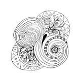 Dekorativer ethnischer mit Blumenhintergrund Paisleys des Vektors Muster mit Gekritzelgestaltungselementen Stockbild