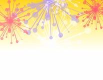 Dekorativer Feuerwerk-Rand Stockfotos