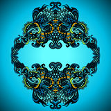 Dekorativer Flourish-Rahmen-Vektor Lizenzfreies Stockfoto